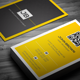 Minimal Yellow Business Card - GraphicRiver Item for Sale