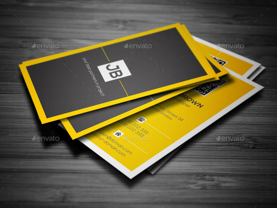 Minimal yellow business card by mr design graphicriver minimal yellow business card creative business cards preview image set01 minimal bc previewg colourmoves
