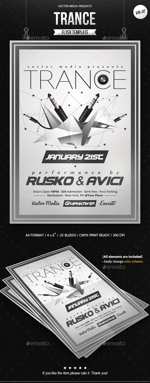 Trance - Flyer [Vol.02] - Clubs & Parties Events