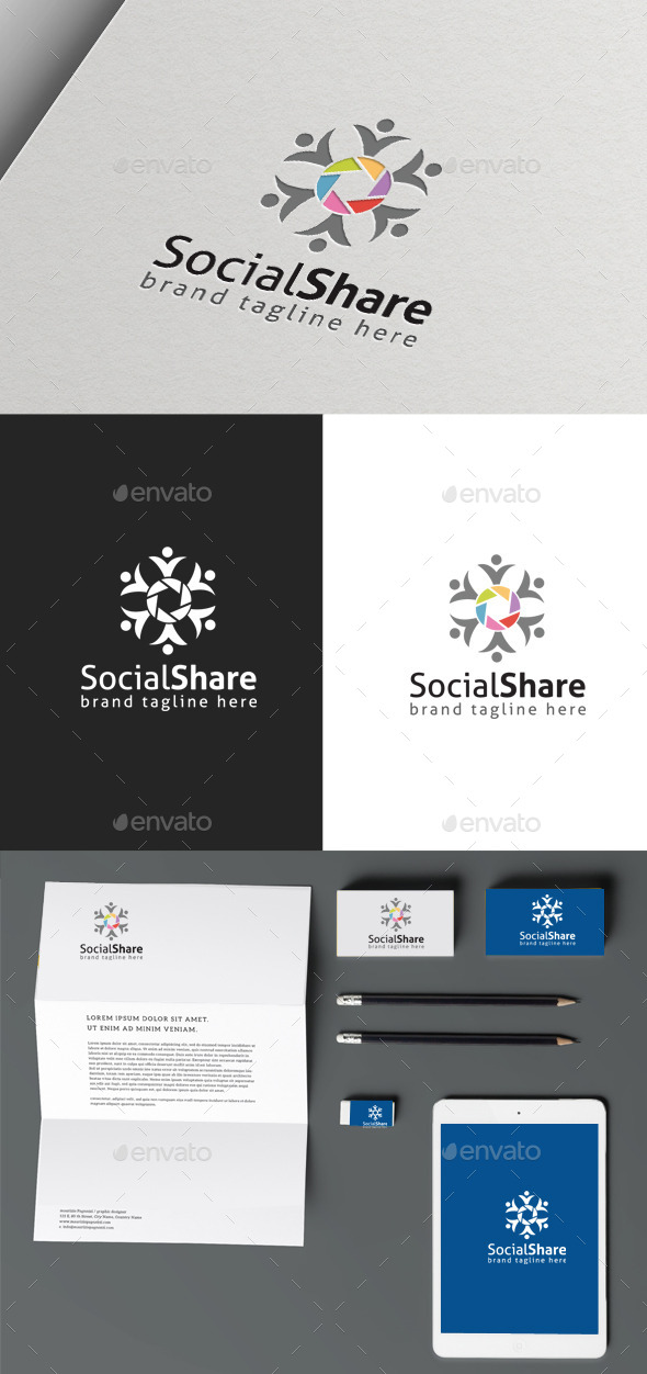 Social Share - Symbols Logo Templates