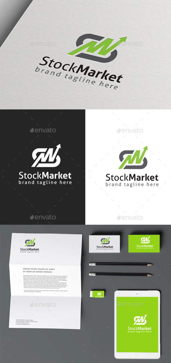 Stock Market logo - Symbols Logo Templates