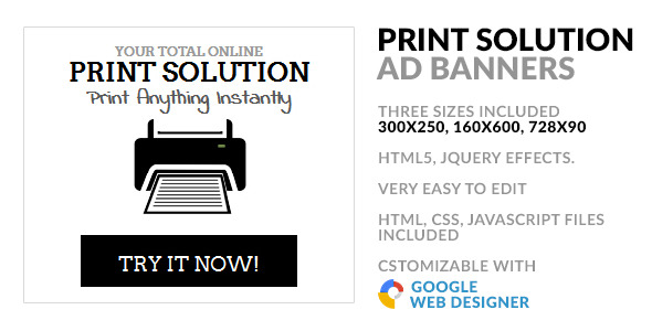 Online Print Service HTML5 GWD Ad Banner - CodeCanyon Item for Sale