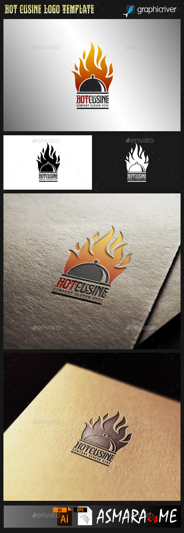 Hot Cuisine - Hot Food logo - Food Logo Templates