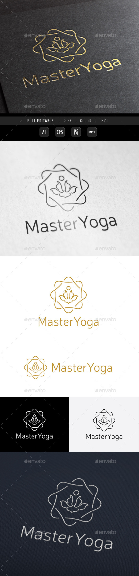 Guru Master Yoga King - Crests Logo Templates