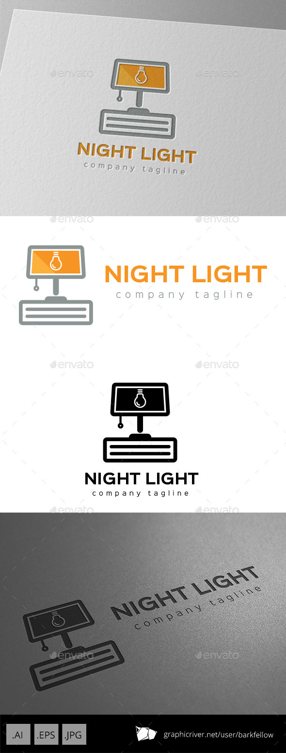 Night Lamp Light Logo - Objects Logo Templates