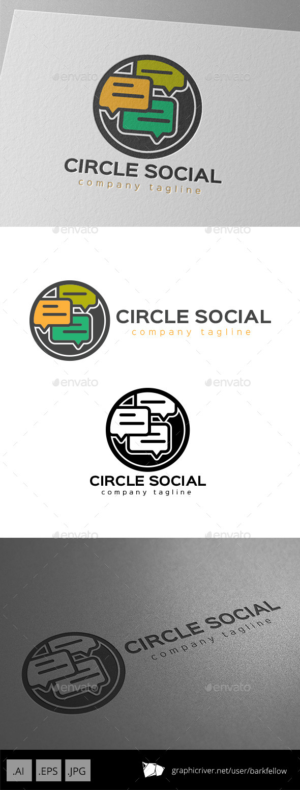Circle Social Chat Logo - Symbols Logo Templates