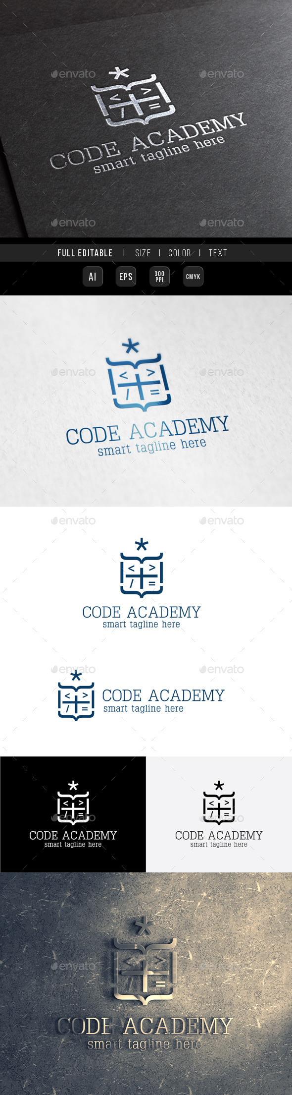 Royal King Code Academy - Crests Logo Templates