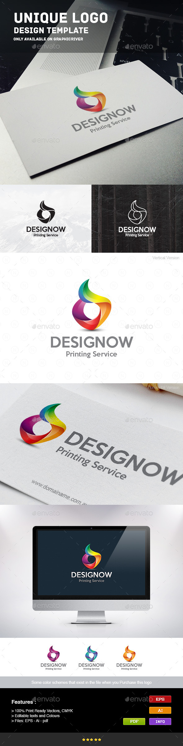 Printing Service - Letters Logo Templates