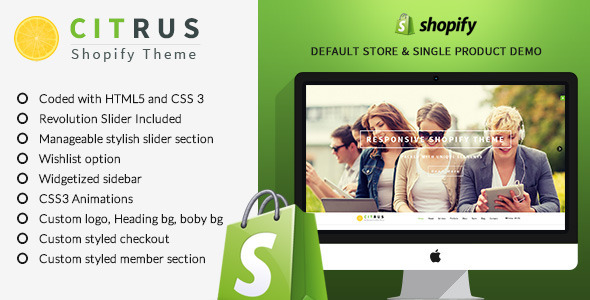 Citrus one page parallax Shopify Theme - Shopify eCommerce