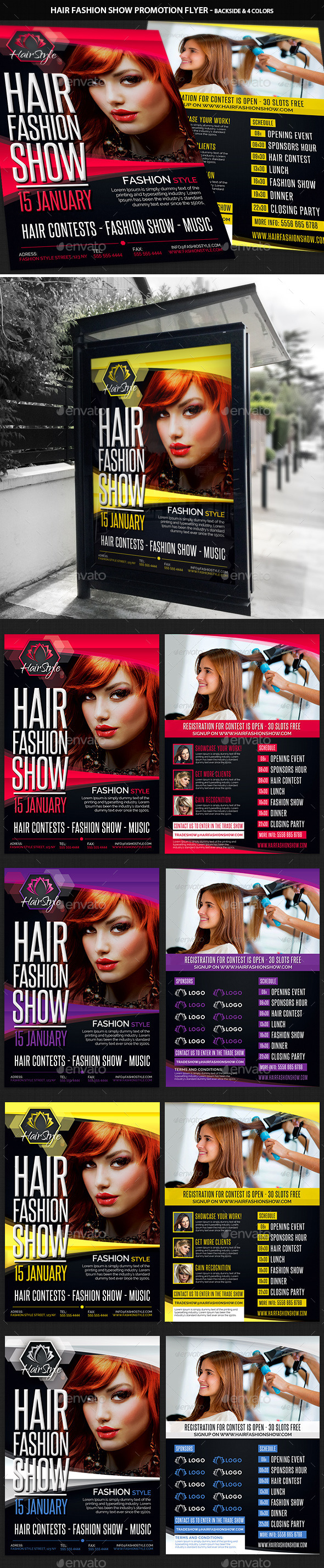 Hair Fashion Show Promotion Flyer - Corporate Flyers