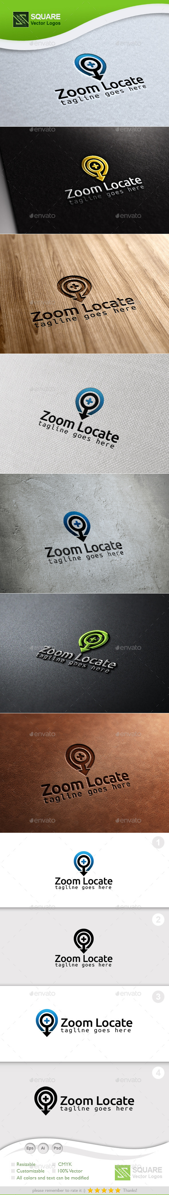Zoom Locator Custom Logo Template - Symbols Logo Templates