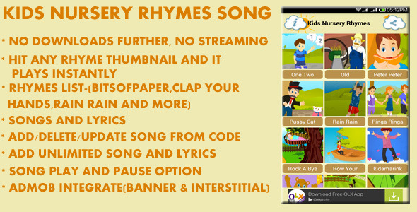 Kids Nursery Rhymes Song - CodeCanyon Item for Sale