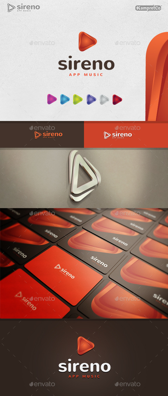 Play Logo - 3d Abstract