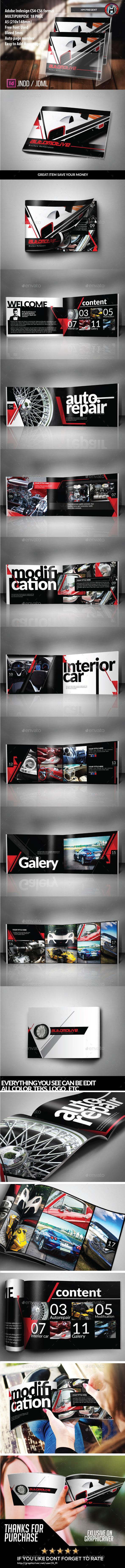 Automotive Brochure Template - Catalogs Brochures