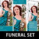 Memories Funeral Stationery Template Set