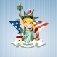 Poster with a Statue of Liberty - GraphicRiver Item for Sale