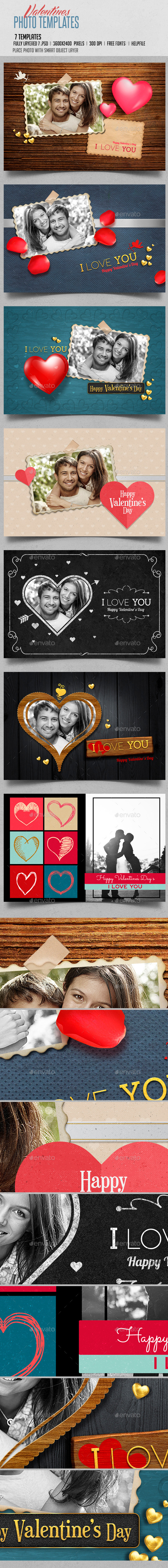 Valentines Photo Templates
