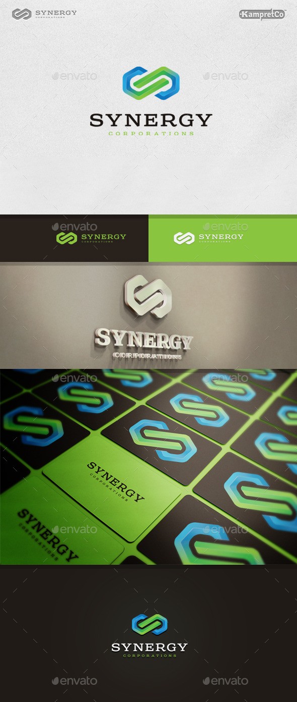 Link Synergy Logo - 3d Abstract