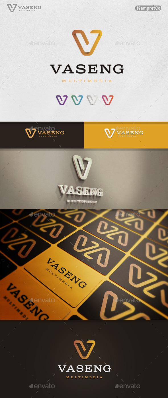 Vision V Letter Logo - Letters Logo Templates