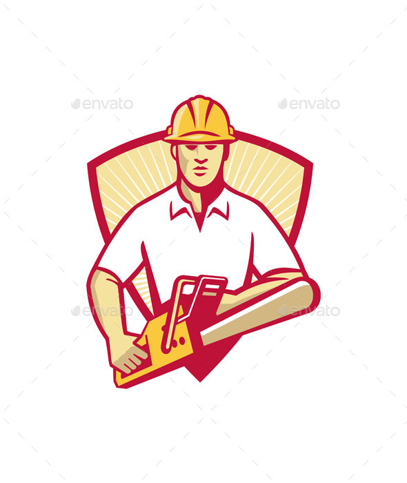Tree Surgeon with Chainsaw - People Characters