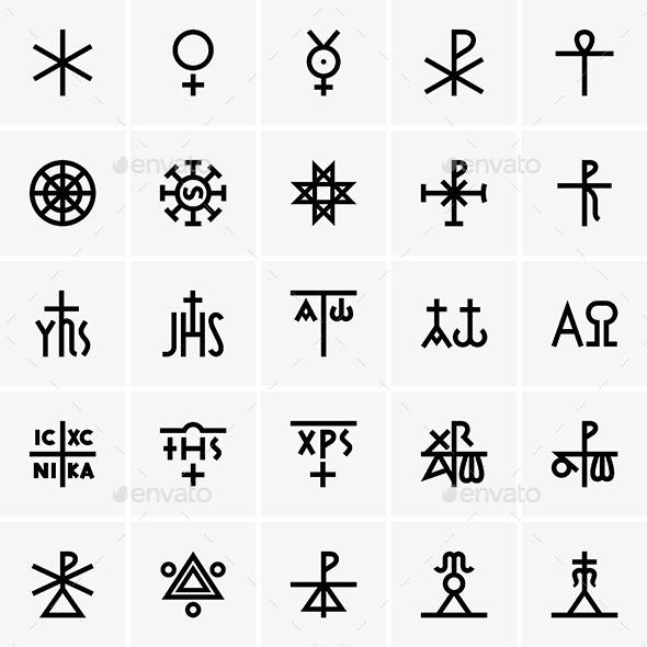 Christ Symbols - Decorative Symbols Decorative