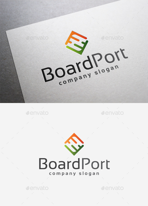Board Port Logo - Abstract Logo Templates