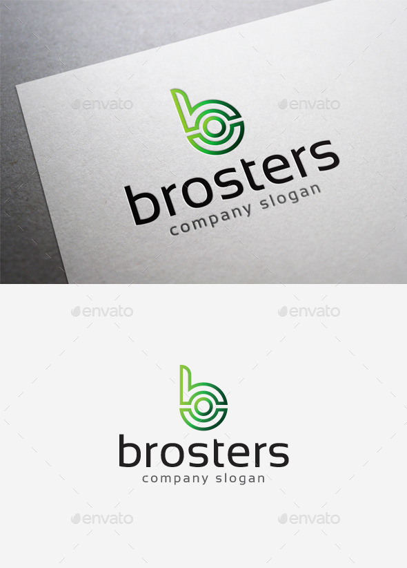 Brosters Logo - Letters Logo Templates