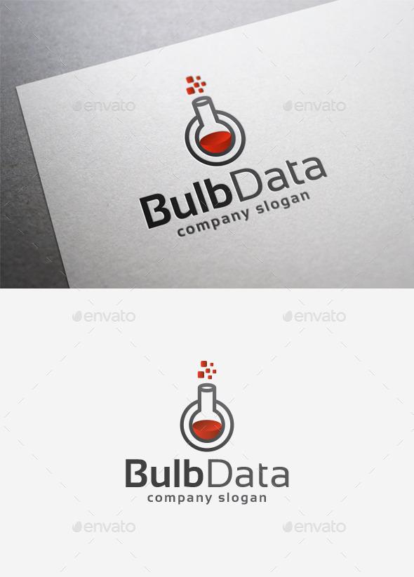 Bulb Data Logo - Objects Logo Templates