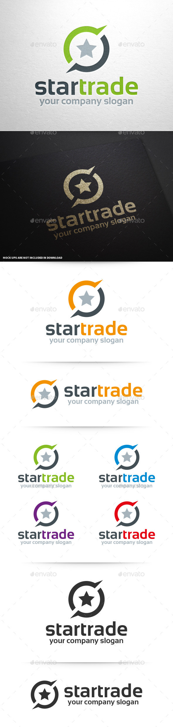 Star Trade Logo Template - Symbols Logo Templates