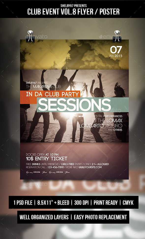Club Event Flyer / Poster Vol.8 - Events Flyers