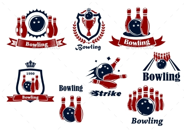 Bowling Icons - Sports/Activity Conceptual