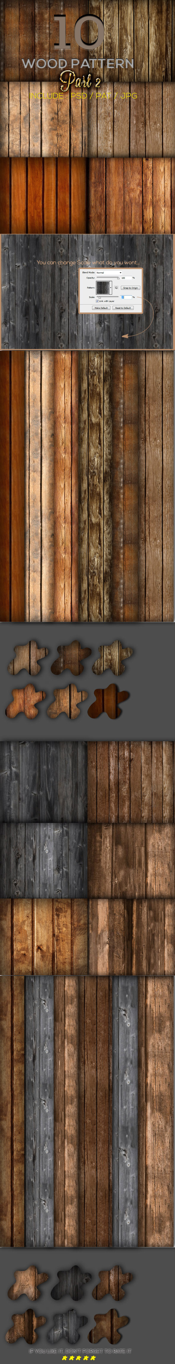 10 Wood Pattern Part 2 - Textures / Fills / Patterns Photoshop