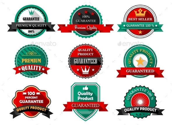 Guarantee Labels - Web Elements Vectors