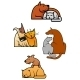 Cat and Dog Cartoons - GraphicRiver Item for Sale