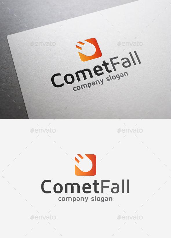 Comet Fall Logo - Abstract Logo Templates