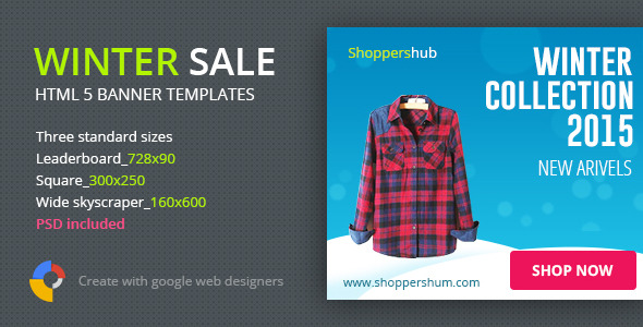 Winter Sale Shopping | HTML5 Banner Template - CodeCanyon Item for Sale