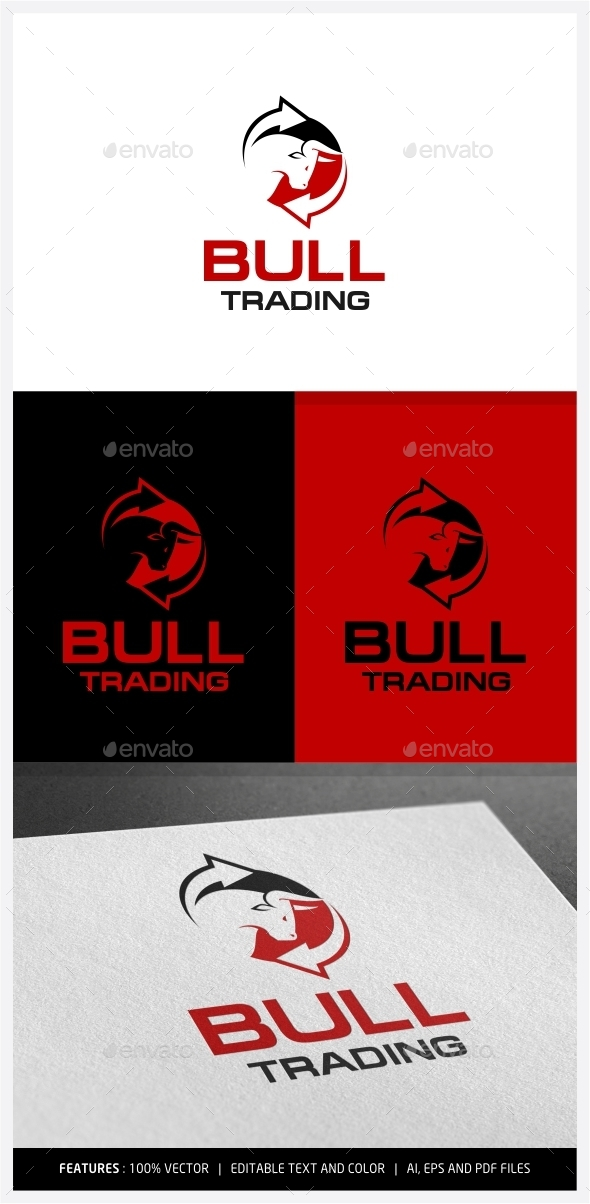 Bull Trading Logo - Animals Logo Templates