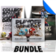 Playoff Football Flyer / Poster Template Bundle
