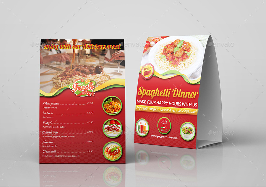 Restaurant and Cafe Table Tent Template Vol6 & Restaurant and Cafe Table Tent Template Vol6 by OWPictures ...