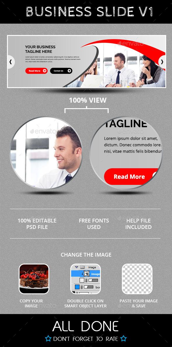 Business Slide V1 - Sliders & Features Web Elements