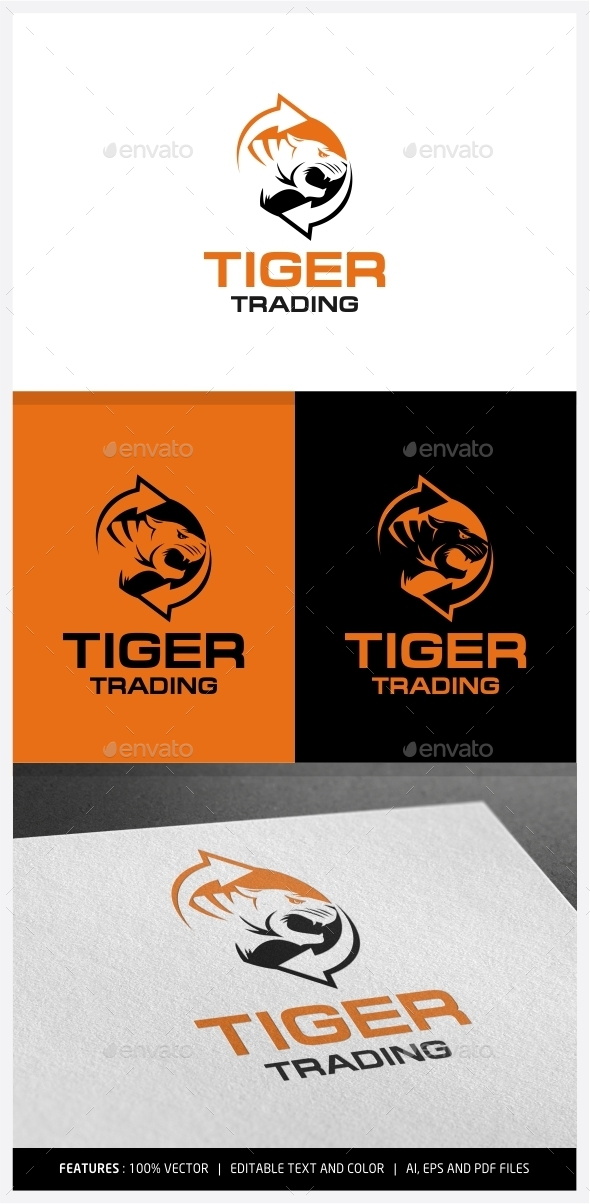 Tiger Trading Logo - Animals Logo Templates