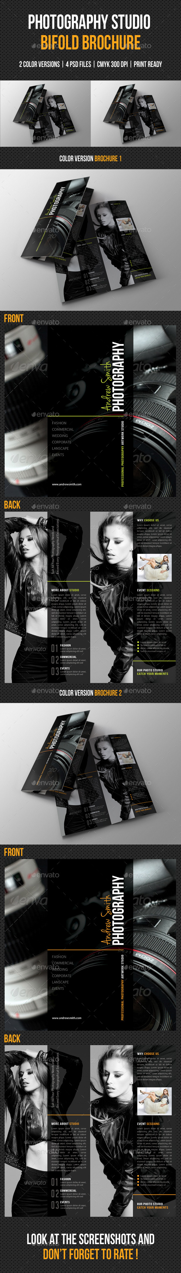 Photography Studio Bifold Brochure 03 - Portfolio Brochures