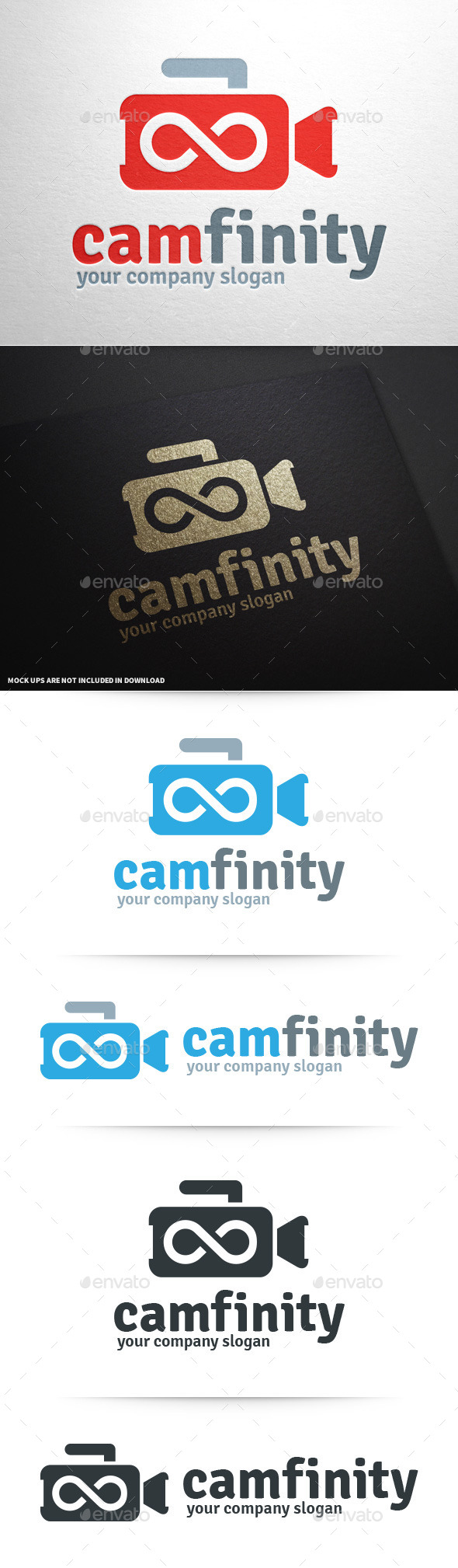 Camera Infinity Logo - Objects Logo Templates
