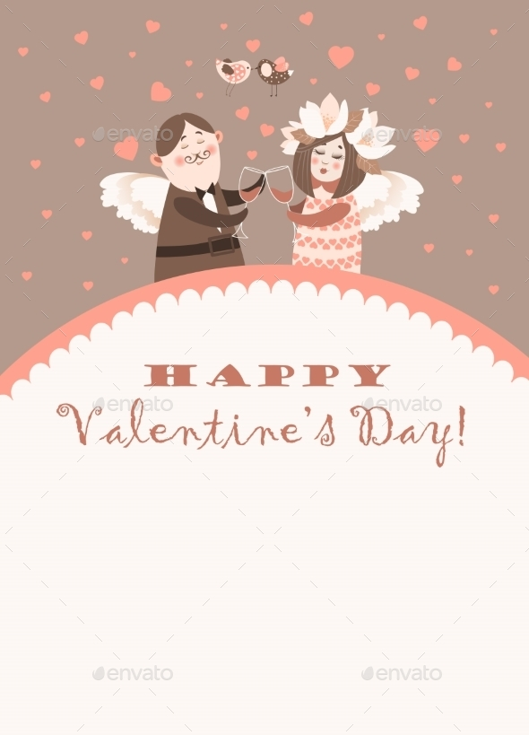 Valentine's Day Angels - Characters Vectors