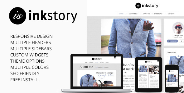 InkStory – Personal, News, Blog WordPress Theme