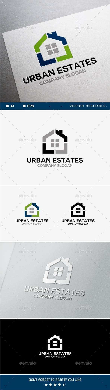 Urban Estates Logo  - Buildings Logo Templates