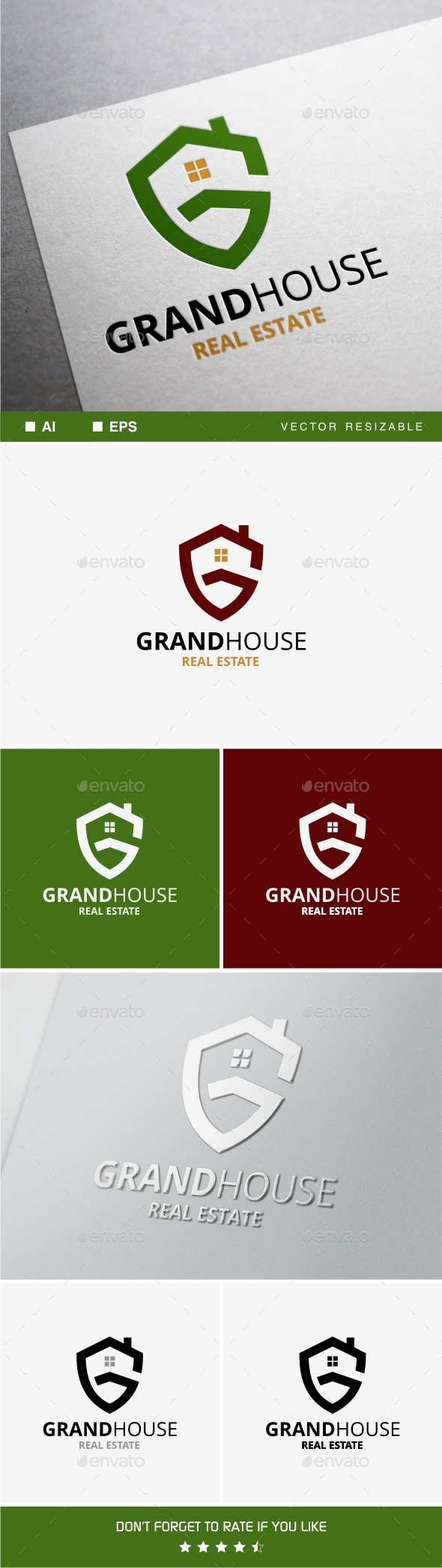 Grand House Logo - Buildings Logo Templates