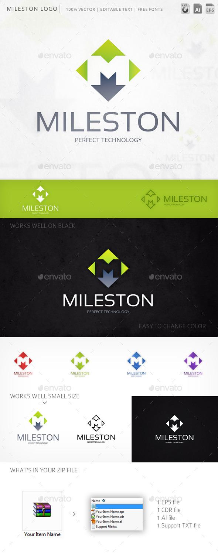 Mileston Letter M Logo Template - Letters Logo Templates
