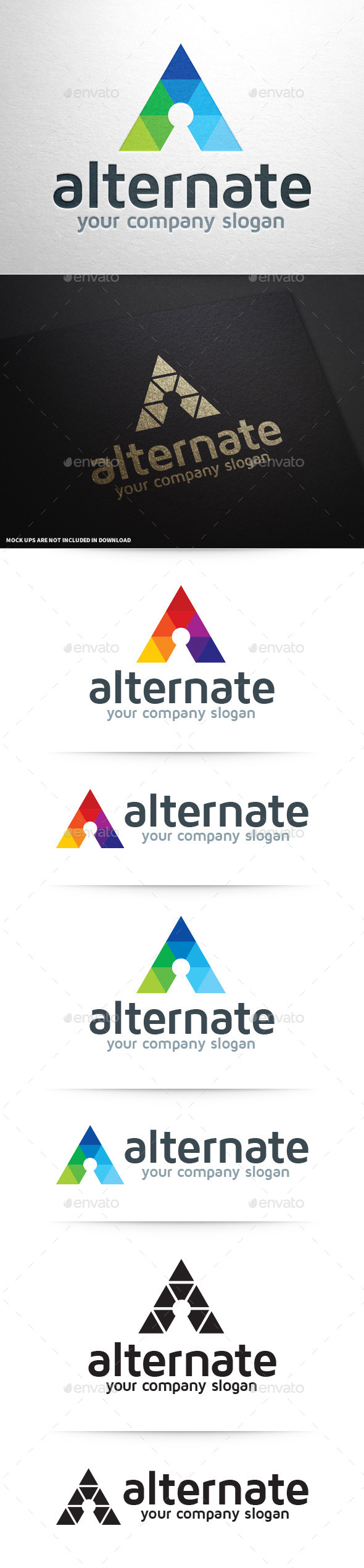Alternate - Letter A Logo - Letters Logo Templates