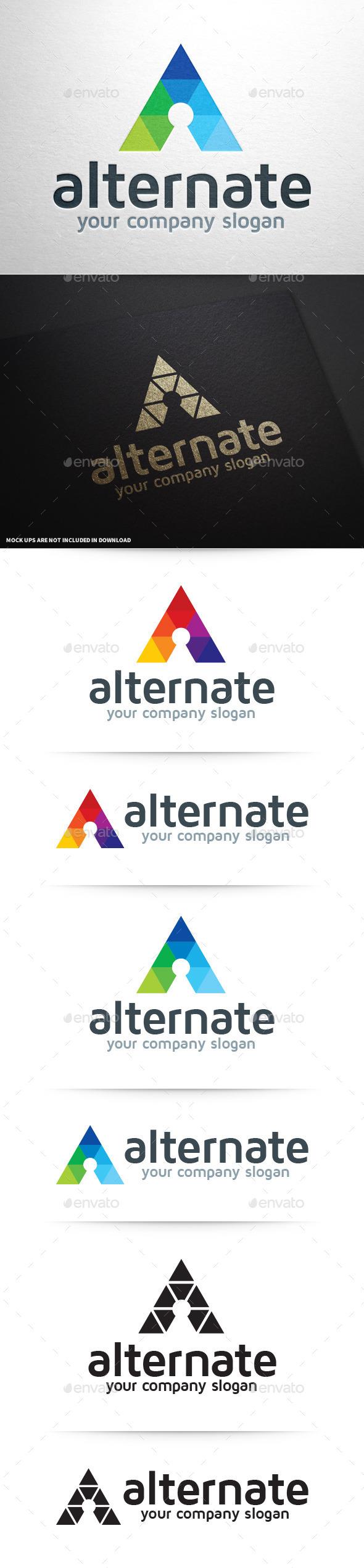 Alternate - Letter A Logo - Letters Logo Templates